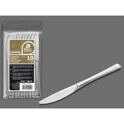 S/10 CUCHILLO GRANDE PLATA REUTILIZABLE 20 CM