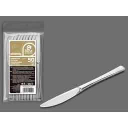 S/50 CUCHILLO GRANDE PLATA REUTILIZABLE 20 CM