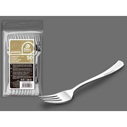 S/50 TENEDOR GRANDE PLATA REUTILIZABLE 18,50 CM