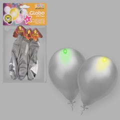 S/4 GLOBO PLATA LED 30 CM